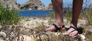 Sandals Kit Tested on the beach